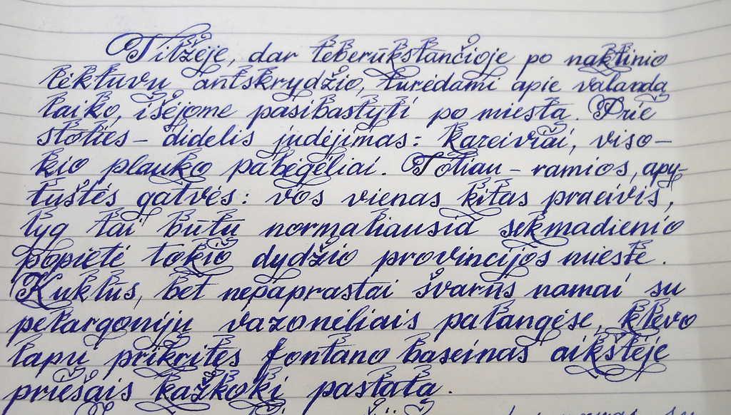 Rašo ne ranka, o smegenys